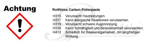 Carbon Polierpaste, RotWeiss CLP/GHS Verordnung