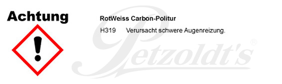 Carbon-Politur, RotWeiss CLP/GHS Verordnung